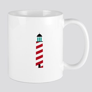Lighthouse in red an white Mugs