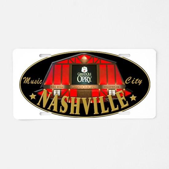 Cute Nashville Aluminum License Plate