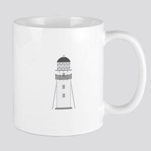 Lighthouse in gray an white Mugs