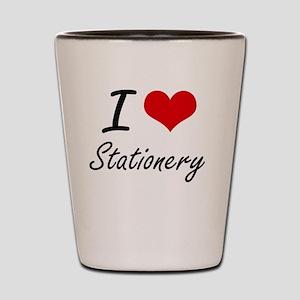 I love Stationery Shot Glass