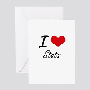 I love Stats Greeting Cards