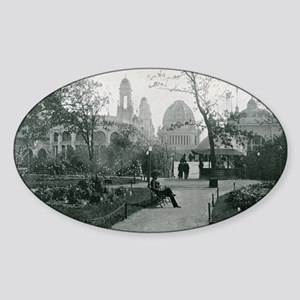Columbian Exposition Wooded Island Sticker