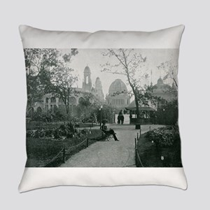 Columbian Exposition Wooded Island Everyday Pillow