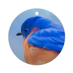 Bluebird Round Ornament