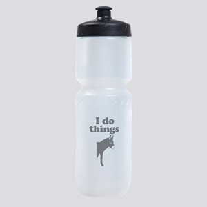 I do things half ass Sports Bottle