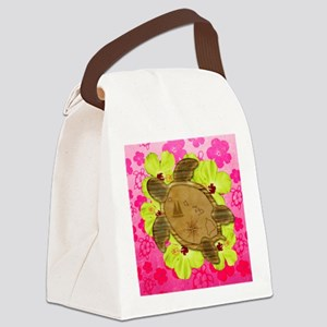 Hawaiian Turtle Map Canvas Lunch Bag