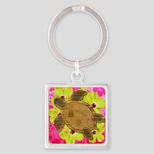 Hawaiian Turtle Map Keychains