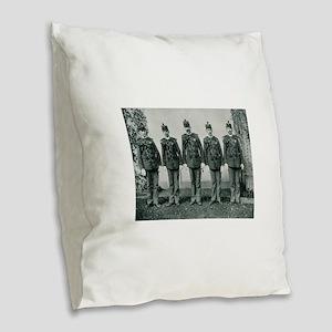 Columbian Exposition Guard Burlap Throw Pillow
