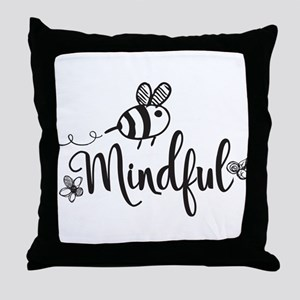 Bee Mindful Throw Pillow