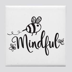 Bee Mindful Tile Coaster