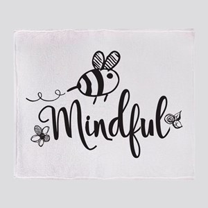 Bee Mindful Throw Blanket