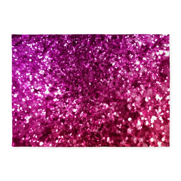 Pretty Pink Glitter 5'x7'Area Rug By Admin_CP68870216