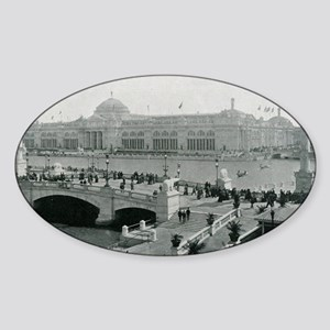 Columbian Exposition Agricultural Hall Sticker