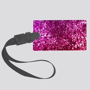 Pretty Pink Glitter Large Luggage Tag