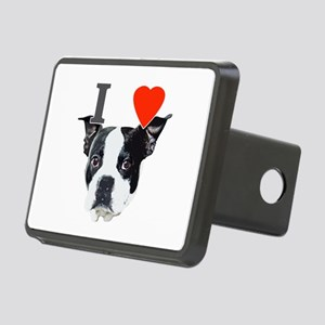 I Love Boston Terriers Rectangular Hitch Cover