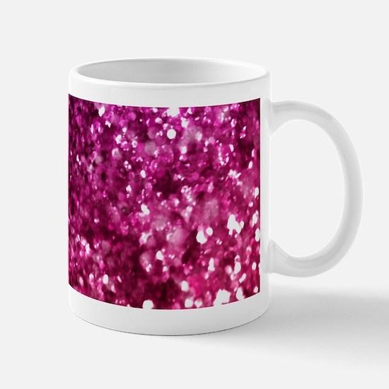 Pretty Pink Glitter Mugs