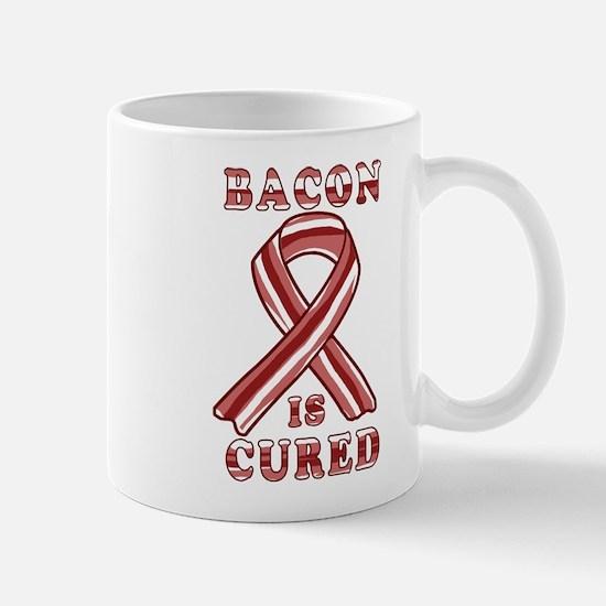 BACON AWARENESS CANCER RIBBON Mugs