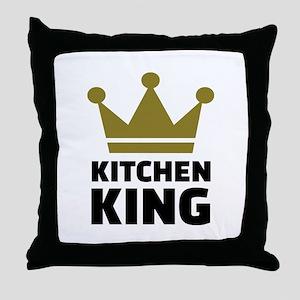 Kitchen king Throw Pillow