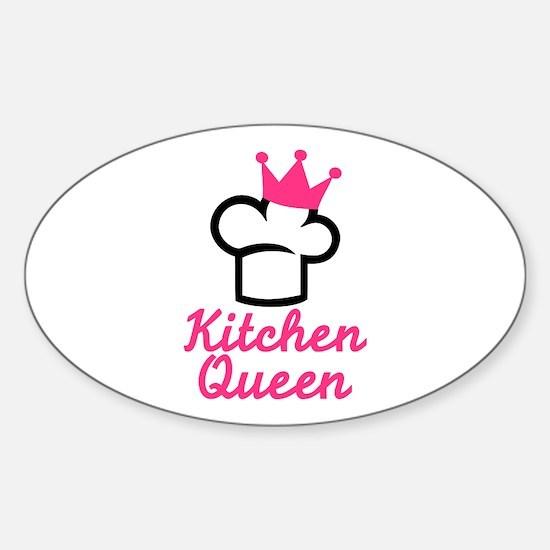 Kitchen queen Sticker (Oval)