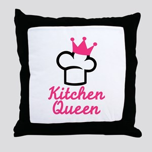 Kitchen queen Throw Pillow