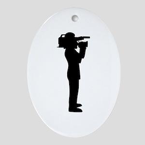 Cameraman Oval Ornament