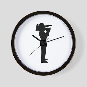 Cameraman Wall Clock