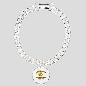 Awesome Norwegian Elkhou Charm Bracelet, One Charm