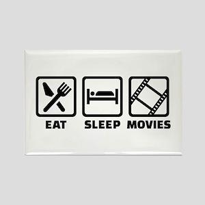 Eat sleep Movies Rectangle Magnet