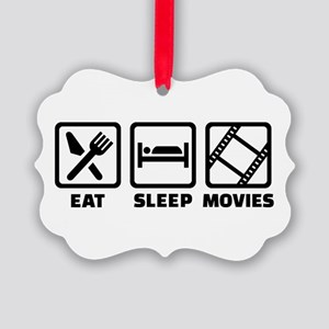 Eat sleep Movies Picture Ornament