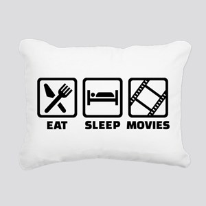 Eat sleep Movies Rectangular Canvas Pillow