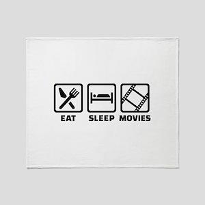 Eat sleep Movies Throw Blanket