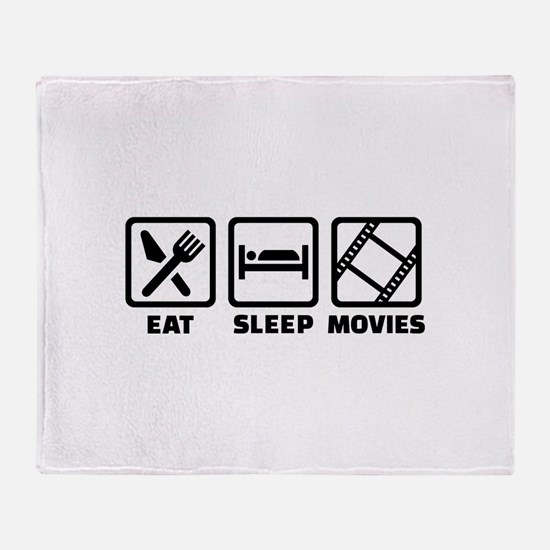 Eat sleep Movies Throw Blanket
