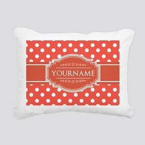 Rusty Red Polkadots Pers Rectangular Canvas Pillow