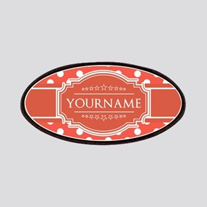 Rusty Red Polkadots Personalized Patch
