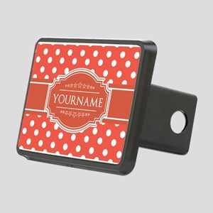Rusty Red Polkadots Person Rectangular Hitch Cover