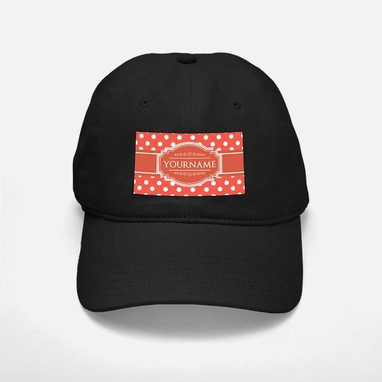 Rusty Red Polkadots Personalized Baseball Hat