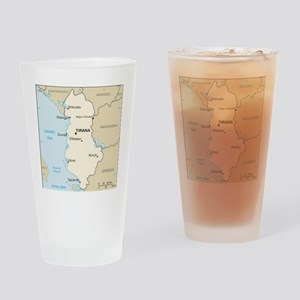 Albanian Map Drinking Glass