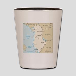Albanian Map Shot Glass