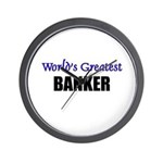 Worlds Greatest BANKER Wall Clock