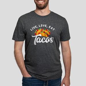 Live Love Tacos H Mens Tri-blend T-Shirt