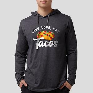 Live Love Tacos H Mens Hooded Shirt