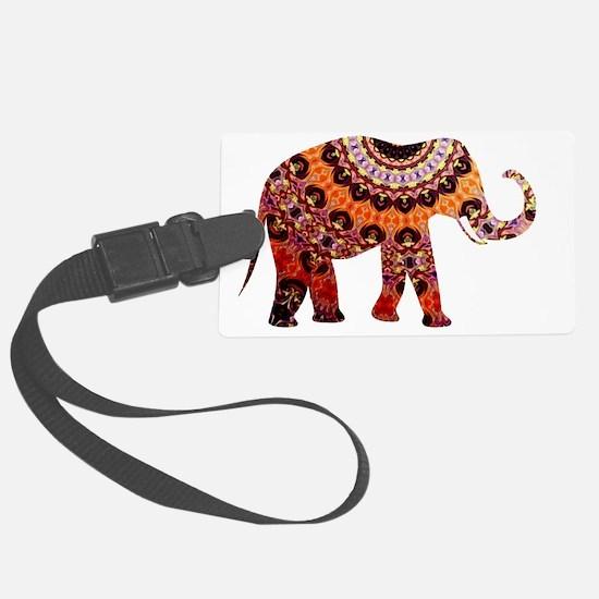 Cute Red elephants Luggage Tag