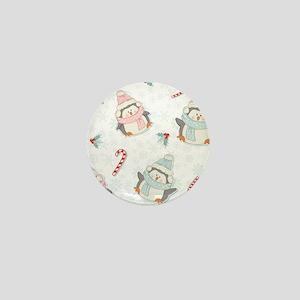 Christmas Penguins Mini Button
