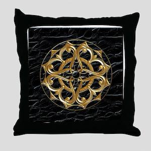 Harvest Moons Gold & Jet Throw Pillow