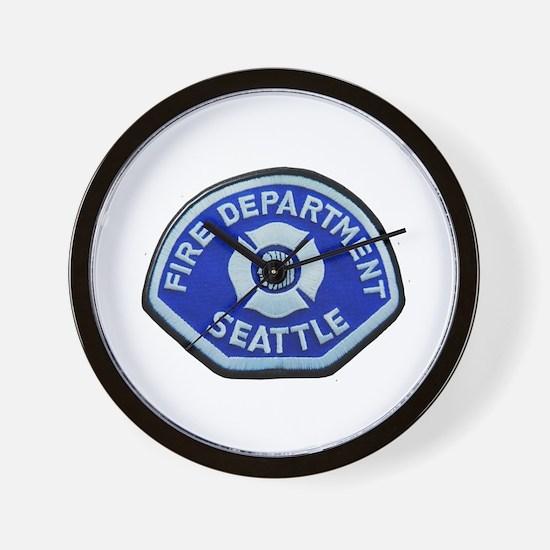 Seattle Fire Department Wall Clock