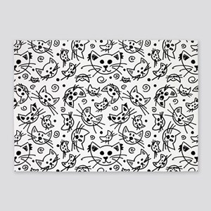 Doodle Cats 5'x7'Area Rug