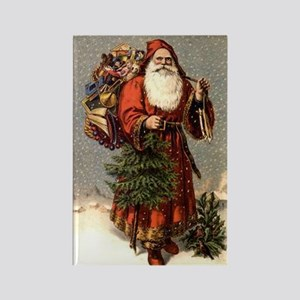 Father Christmas Rectangle Magnet