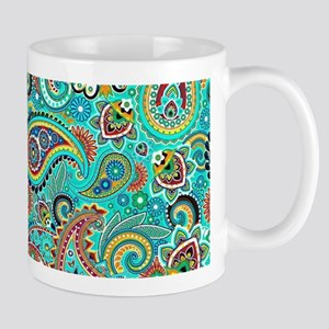 Colorful Vintage Paisley Mugs