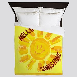 hello sunshine Queen Duvet