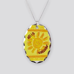 hello sunshine Necklace Oval Charm